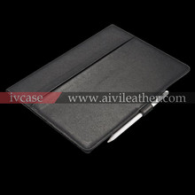 Premium Black Full Grain Cowhide Leather Tablet Cover For Apple Ipad Pro leather Case