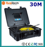 CCTV Video Pipe Plumbing Inspection Camera,30M Pipe Drainage Inspection Camera Underwater Camera With LCD Monitor/ DVR Function