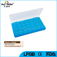 Portable Monthly Plastic 28 Day Pill Box