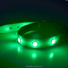 2015 new design LED flashing dog collar 6 PCS diamond amazing beautiful pet collar