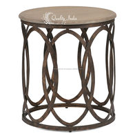 Metalic Round Shape Small End Table