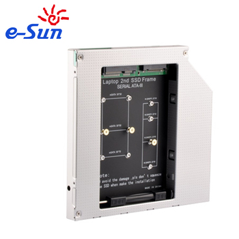 E-sun Latest Innovative Product m.2 (ngff) to msata adapter 2nd HDD Caddy