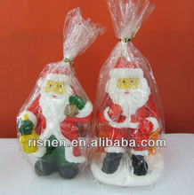 2013 santa claus candle christmas candle crafts decorated candles