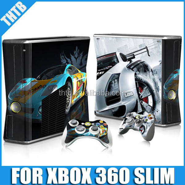 vinyl skin decal vinyl sticker multi design with factory price for xbox 360 slim