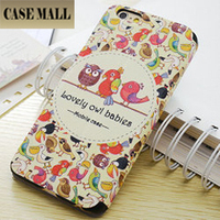 Lovely Bird case for iphone 6 4.7, drawing wallet leather case for iphone 6