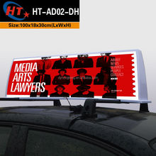 Auto car accessories led lamp taxi advertising light box