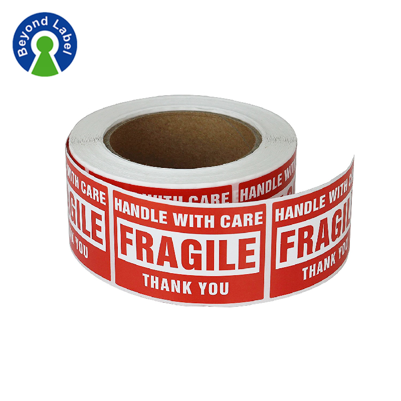 1 Roll 500 <strong>Labels</strong> 2 x 3 Permanent Adhesive Fragile Stickers Handle With Care Warning Packing Moving Box Shipping <strong>Label</strong>