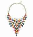 2017 custom design colorful jewelry multi colored crystal necklace from greek jewelry designers