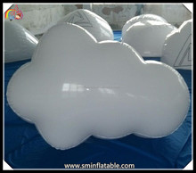 Cheap inflatable white cloud for advertising,promoted white plastic cloud,inflatable white cloud decoration