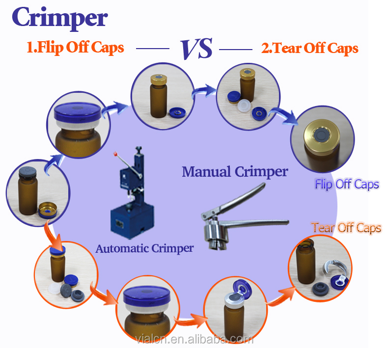 13-20mm cap manual hand vial crimper