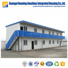 100 staff accommodation /labor camp prefab house with pvc sliding window and door