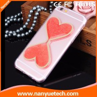 Wholesale Cell Phone Case,Special Sandglass Style Transparent Crystal Hard Case for iPhone 5 5s