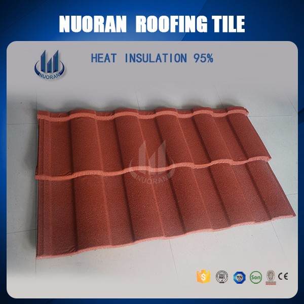 Nuoran Cheap stone coated metal roof brick tiles/interlocking roof shingle /lowest cost roof tile prices