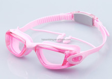antifog transparent swimming goggles for lady