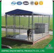 Heavy duty steel metal hot dip galvanized chain link dog cage
