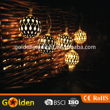 NEWSTYLE Outdoor Crystal Ball Solar String Light LED Waterproof String Lights Multi Color Globe Rope lights for Christmas Tree