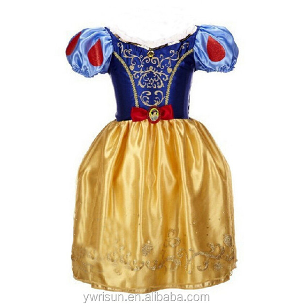 Hot Selling Girls Elegant Design Snow White Frock Designs Dress