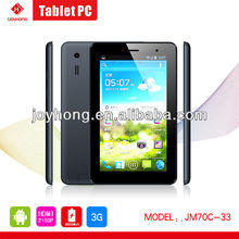 7 inch 3G Phone Call Allwinner A20 DDR3 1G/8G IPAD MINI Android 4.2 Tablet PC