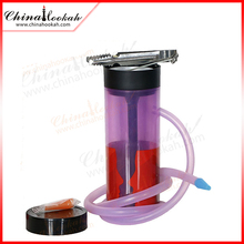 Plastic portable mini shisha hookah pipes