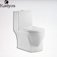 Bathroom flushing wc washdown 250mm one-piece ceramic toilet