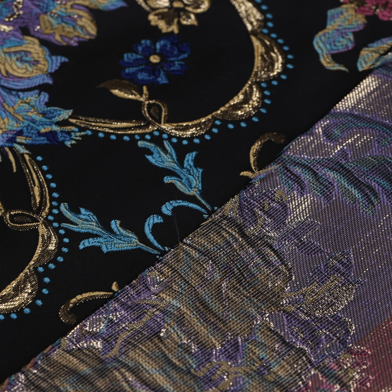 Jacquard Tapestry Satin Jacquard Fabric Suit Windbreaker Fashion Fabric