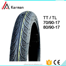 Motorcycle street tire 80/90-17 tubeless motorcycle tire
