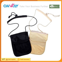 Cheapest soft neck hanging mobile phone pouch bag promotional