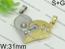 2015 factory wholesale modern broken heart pendant made in china