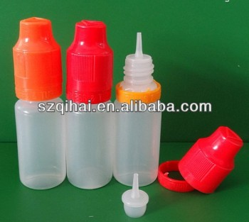 ISO8317 LDPE 10ml electronic cigarette e liquid bottle,e cig liquid bottle