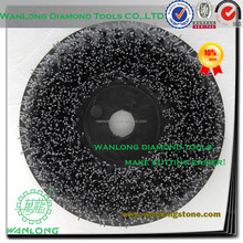 brass round wire brushes for stone grinding,natural stone processing abrasive for marble slab-antique brush for stone