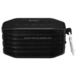 shidu outdoor IPX4 water-assitant hifi sound wireless speaker with hooking ring