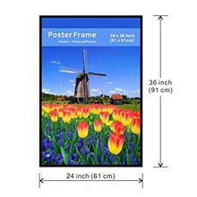black led poster picture frame