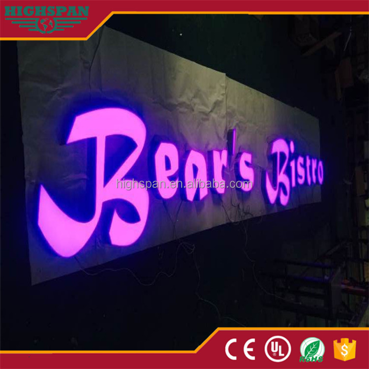 outdoor waterproof signage 3d led channel sign