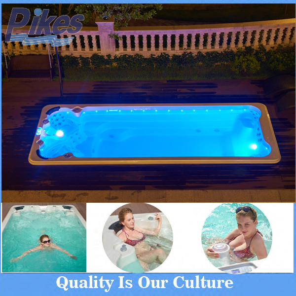 Reversible Drain Location and Massage Function swim spa