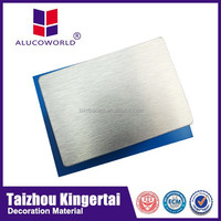 Alucoworld aluminum roofing good quality exterior wall cladding brushed copper acp