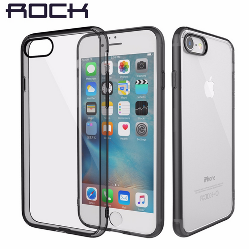 ROCK Pure Series Crystal Clear Hard Back case for iPhone 7/ 7 Plus with soft edg