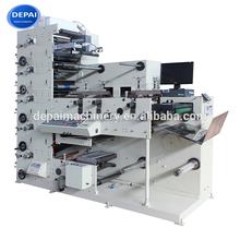 DEPAI FPL320-6 Automatic Wash Care Rotary Label Flexo Printing Machine