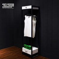 ZJF Retail clothes display rack Cheap metal rack