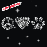 Beautiful rhinestone applique Peace Love Hockey Q 1 (63)