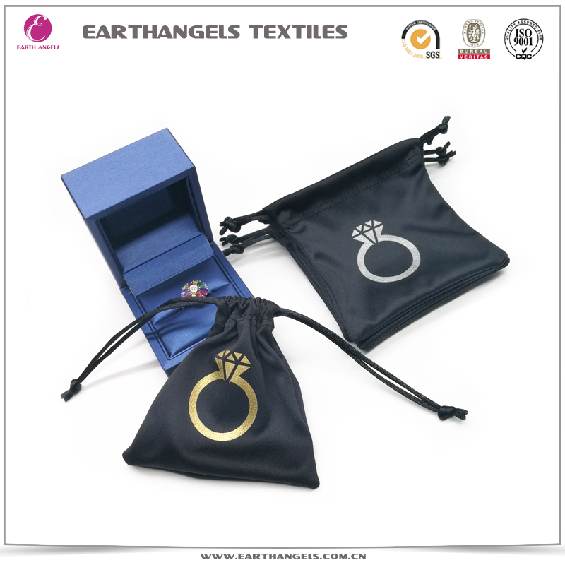Custom Silk Screen Printed Small Mini Microfiber Jewelry Pouch Bags With Logo
