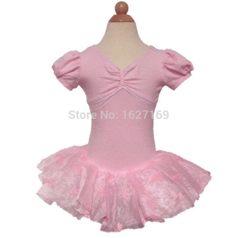 Child girls pink leotard ballet tutu dress dance costume vestido gymnastics training clothing suit 3-8Y kids dancewear
