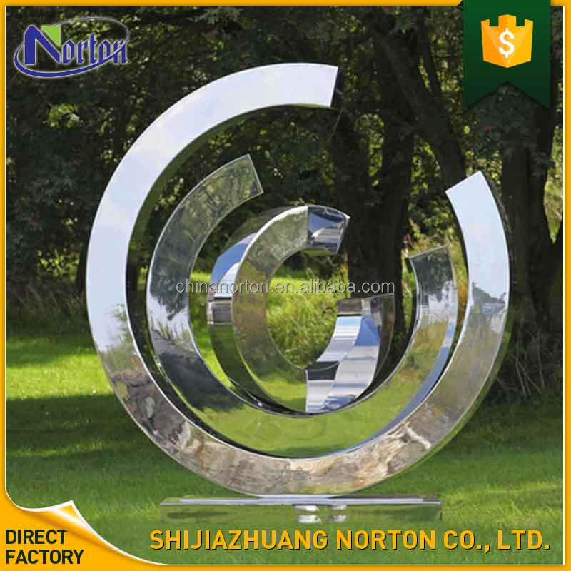 polished metal craft stainless steel outdoor sculpture for public areas NT--SS177A