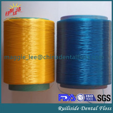 dental floss type floss thread colored polyester floss string yarn