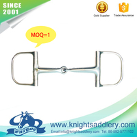SS racing dee ring horse bit with mouthpiece of 95mm or 105mm or 115mm or 125mm