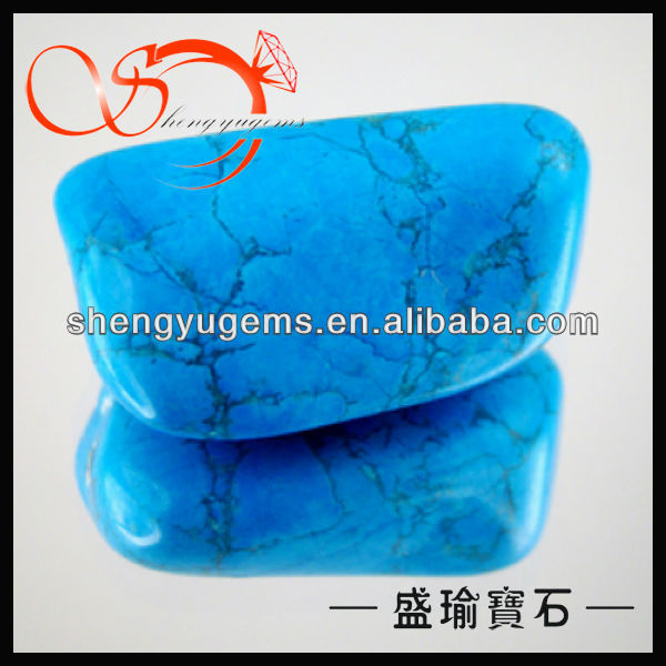synthetic turquoise stone for nails and jewelry making GLSP0014