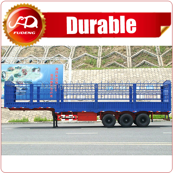 Double Coin Tyre Fuwa Axle Fence Stake Cargo Truck Trailer High Wall Animal Transport Trailer to Vietnam