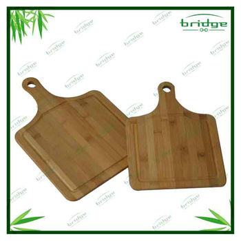 Bamboo pizza paddle with long handle