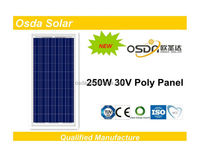 poly 250 watt pv solar panel