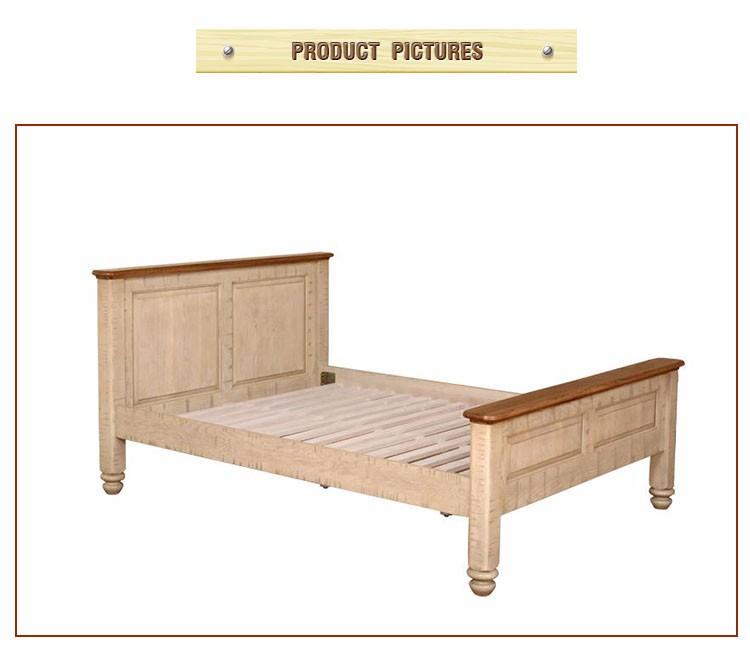 Cómoda Cama de Madera Resistente Plataforma de Muebles Con Cajones ...