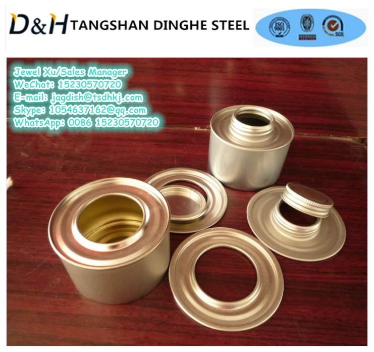 Tangshan Dinghe 200g metal round can for solid alcohol, paint, glue, candle tin can at cheap price